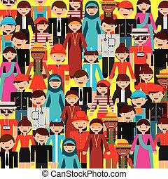 mensen, verscheidenheid, ontwerp