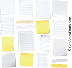 merk papier op, vector, post-it