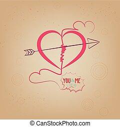 mij, hart, u, liefde