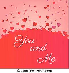 mij, hart, valenties, iconen, u, dag