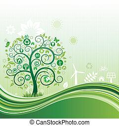 milieu, achtergrond, natuur
