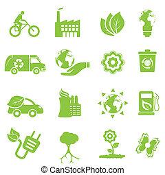 milieu, ecologie, iconen
