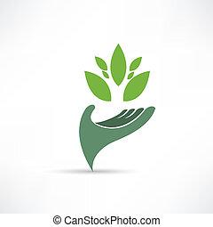 milieu, ecologisch, pictogram