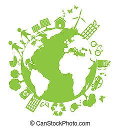 milieu, groene, schoonmaken