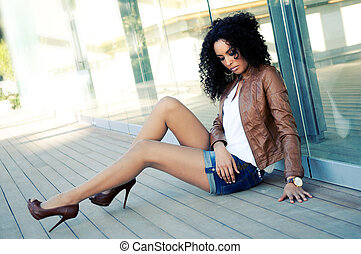 mode, black , model, jonge, verticaal, vrouw