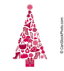 mode, boompje, kerstmis