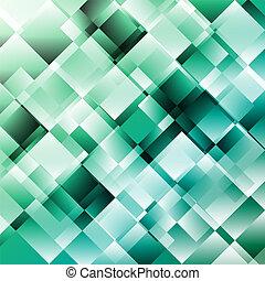 model, abstract, groene, geometrisch, achtergrond
