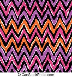 model, abstract, zigzag
