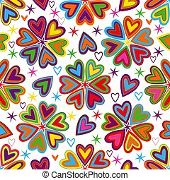 model, hartjes, ouderwetse , kleurrijke, valentijn