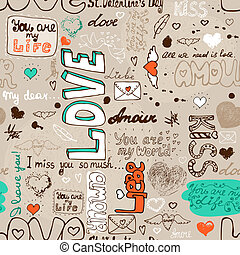 model, liefde, seamless, brief