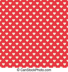 model, seamless, rood, hartjes