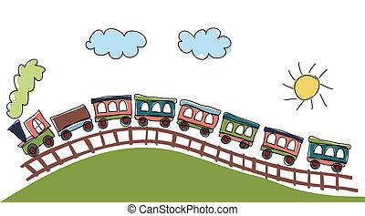 model, trein