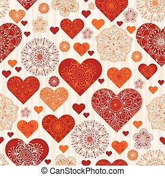 model, valentijn, ouderwetse , sinaasappel, hartjes, rood