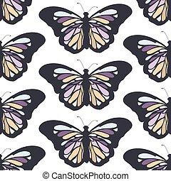 model, vlinder, seamless