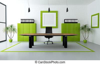 moderne, groene, kantoor