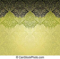 modieus, achtergrond, groene