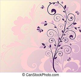 mooi, boompje, achtergrond
