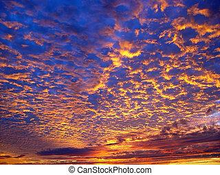 mooi, ondergaande zon