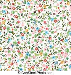 mooi, textuur, seamless, flowers., minuscuul