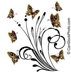 mooi, vlinder