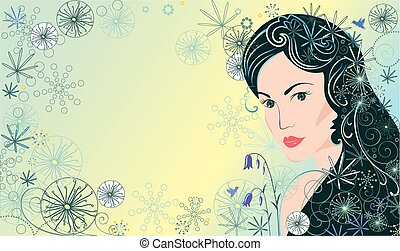 mooie vrouw, achtergrond