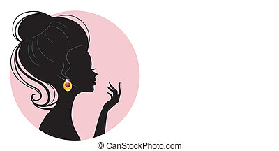 mooie vrouw, silhouette