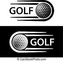 motie, symbool, lijn, golf bal