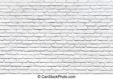 muur, witte baksteen, achtergrond