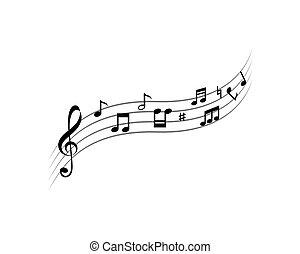 muzieknota, ilustration