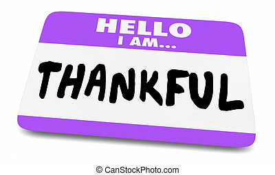 naam, sticker, illustratie, dankbaar, label, dankbaar, hallo, 3d