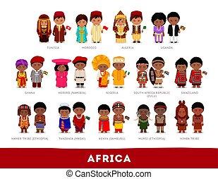 nationale, afrikanen, clothes.
