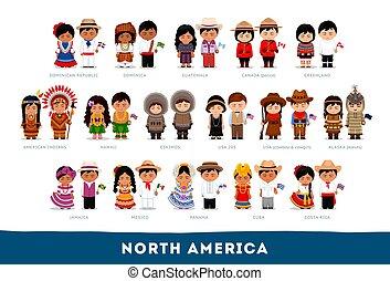 nationale, amerikanen, clothes.
