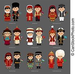 nationale, dress., aziaten