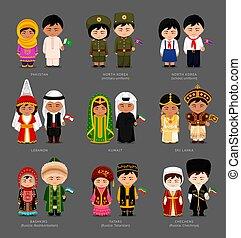 nationale, dress., mensen