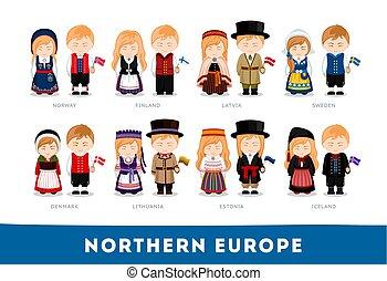 nationale, europe., clothes., noordelijke europeanen