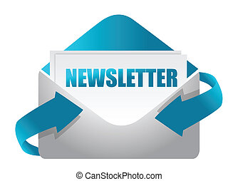 newsletter, enveloppe, illustratie
