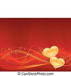 of, day., jouw, ontwerpen, third., achtergrond, groot, punten, hartjes, twee, golvend, romantische, gouden, sterretjes, model, rood, valentines, onderste