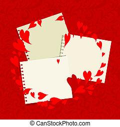 of, tekst, jouw, plek, valentijn, frame, ontwerp, foto