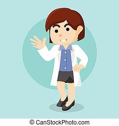 ontwerp, vrouwlijk, illustratie, arts