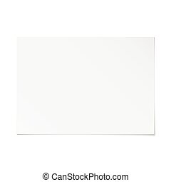oriëntering, papier, vector, lege, witte , schaduw, landscape, a4