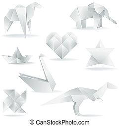 origami, aanmaken, gevarieerd
