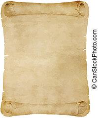 oud, perkament, boekrol