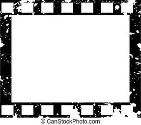 oude stijl, grunge, frame, film