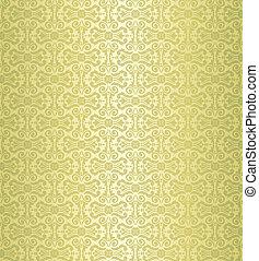 ouderwetse , behang, groene, ontwerp