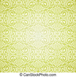 ouderwetse , behang, ontwerp, groene