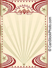 ouderwetse , circus, poster., rood