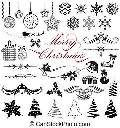 ouderwetse , communie, ontwerp, kerstmis