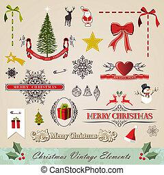 ouderwetse , communie, set, kerstmis