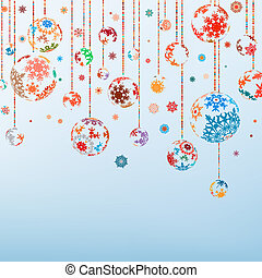 ouderwetse , eps, year., vrolijk, 8, nieuw, kerstmis, vrolijke