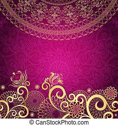 ouderwetse , gold-purple, frame